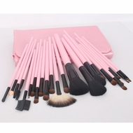 22pc Professional Cosmetic Makeup Brush Set Kit with Pink Bag - click to enlarge