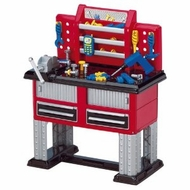 American Plastic Toys Deluxe Workbench with 37 Accessories and Battery-Operated Drill - click to enlarge