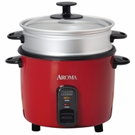 Aroma Pot Style Non-Stick Rice Cooker and Food Steamer - click to enlarge