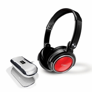 Coby CV18523RED Jammerz Xtreme Deep Bass Stereo Headphones and Speakers, Red - click to enlarge