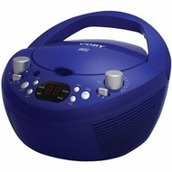 Coby CXCD251 Portable CD Player with AM FM Radio, Blue - click to enlarge