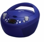 Coby CXCD251 Portable CD Player with AM FM Radio, Blue