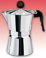 CucinaPro 290-09 Aluminum Stovetop Espresso Maker - 9 Cup - click to enlarge