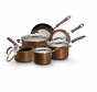 Earth Pan Plus 19565 Nonstick 10 Piece Cookware Set, Bronze