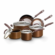 Earth Pan Plus 19565 Nonstick 10 Piece Cookware Set, Bronze - click to enlarge