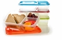 EasyLunchboxes 3-Compartment Bento Lunch Box Containers, Set of 4, Classic