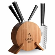 Ginsu 7107 5pc Bamboo Set - click to enlarge