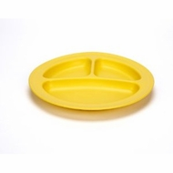 Green Eats 2 Pack Divided Plates,  Yellow - click to enlarge