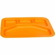 Green Eats Divided Tray, Orange - click to enlarge