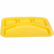 Green Eats Divided Tray, Yellow - click to enlarge