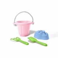 Green Toys Sand Play Set (Pink) : Made in America - click to enlarge