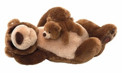 Gund 320441 Snoring Papa Bear and Little Bear - click to enlarge