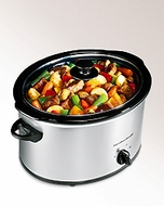Hamilton Beach 33550 Classic Chrome 5 Quart Slow Cooker - click to enlarge