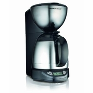 Hamilton Beach 49855 Thermal Coffee Maker Black and Stainless Steel - click to enlarge
