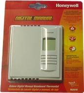 Honeywell RLV310 Digital Manual Baseboard Heat Thermostat - click to enlarge