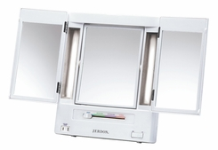 Jerdon Classic JGL9W Lighted Trifold Mirror 5x Magnification - click to enlarge