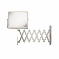 Jerdon J2020C 8 Inch Two Sided Swivel Wall Mount Mirror with 5x Magnification, 30 Inch Extension, Chrome and White Finish - click to enlarge