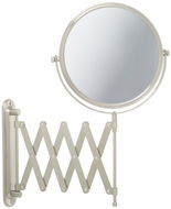 Jerdon JP2027N 8 Inch Two Sided Swivel Wall Mount Mirror with 7x Magnification, 20 Inch Extension, Nickel Finish - click to enlarge
