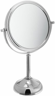 Jerdon JP916C 6 Inch Tabletop Two Sided Swivel Vanity Mirror with 5x Magnification, 11 Inch Height, Chrome Finish - click to enlarge