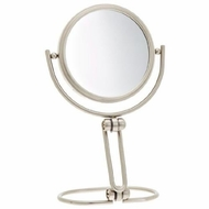 Jerdon MC315N 3 Inch Folding Two Sided Swivel Travel Mirror with 15x Magnification, Nickel Finish - click to enlarge
