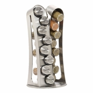 Kamenstein 5084915 16 Jar Stainless Steel Revolving Spice Rack - click to enlarge