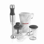 KitchenAid KHB2351CU 3-Speed Hand Blender, Silver