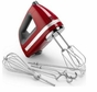 KitchenAid KHM920ER 9-Speed Digital Hand Mixer, Empire Red (includes BONUS dough hooks, whisk, milk shake liquid blender rod