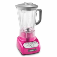 KitchenAid KSB560RI 5-Speed Blender Cook for the Cure Edition, Raspberry Ice - click to enlarge