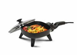 Maxi Matic EFS-400 Elite Cuisine 7 Inch Non Stick Electric Skillet with Glass Lid Black - click to enlarge