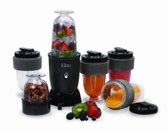 MaxiMatic EPB1800 Elite Cuisine 300 Watt 17 Piece Personal Drink Blender, Black - click to enlarge