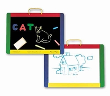 Melissa and Doug #145 Magnetic Chalkboard and Dry-Erase Board - click to enlarge