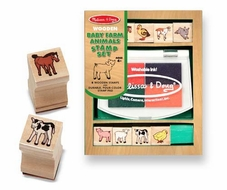 Melissa and Doug 1639 Baby Farm Animals Stamp Set - click to enlarge