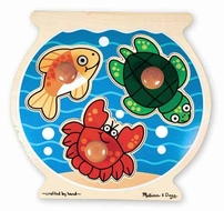 Melissa and Doug #2056 Fishbowl Jumbo Knob Puzzle - click to enlarge