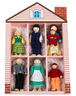 Melissa and Doug 284 Wooden Family Doll Set - click to enlarge