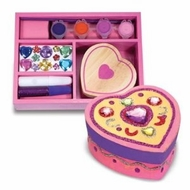 Melissa and Doug 3094 Wooden Heart Chest DYO - click to enlarge