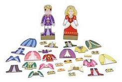 Melissa and Doug #3548 Prince and Princess Magnetic Dress-Up Set - click to enlarge