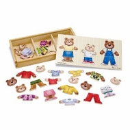 Melissa and Doug 3770 Bear Family Dress Up Puzzle - click to enlarge