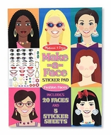 Melissa and Doug #4195 Make-A-Face Sticker Pad - click to enlarge