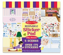 Melissa and Doug #4197 Play House! Reusable Sticker Pad - click to enlarge