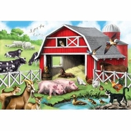 Melissa and Doug 4428  Farm Friends 24 pc Floor Puzzle - click to enlarge