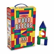 Melissa and Doug 481: 100-Piece Wood Blocks Set - click to enlarge