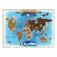 Melissa and Doug 500 pc Map of the World Cardboard Jigsaw - click to enlarge