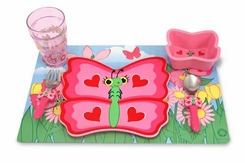 Melissa and Doug 6576 Bella Butterfly Mealtime Set - click to enlarge
