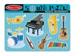 Melissa and Doug #732 Musical Instruments Sound Puzzle - click to enlarge