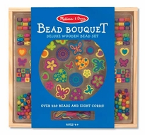 Melissa and Doug Bead Bouquet : Deluxe Wooden Bead Set - click to enlarge