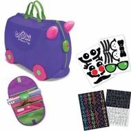 Melissa and Doug Carry-On Kids Luggage Iris Purple/Saddle Bag/Sticker Set - click to enlarge