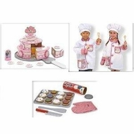 Melissa and Doug Chef Costume Ice Cream Parlor, Bake & Decorate Cupcakes - click to enlarge