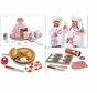 Melissa and Doug Chef Costume 3 Sets of Food, Tiered Special Occasion Cake, Slice & Bake Cookies, Bake & Decorate Cupcake Set