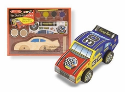 Melissa and Doug Decorate-Your-Own Wooden Race Car - click to enlarge