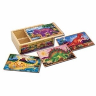Melissa and Doug Dinosaurs Puzzles in a Box - click to enlarge